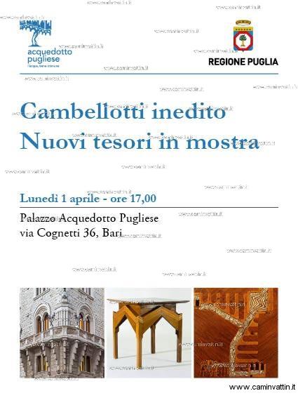 duilio cambellotti mostra palazzo acquedotto pugliese