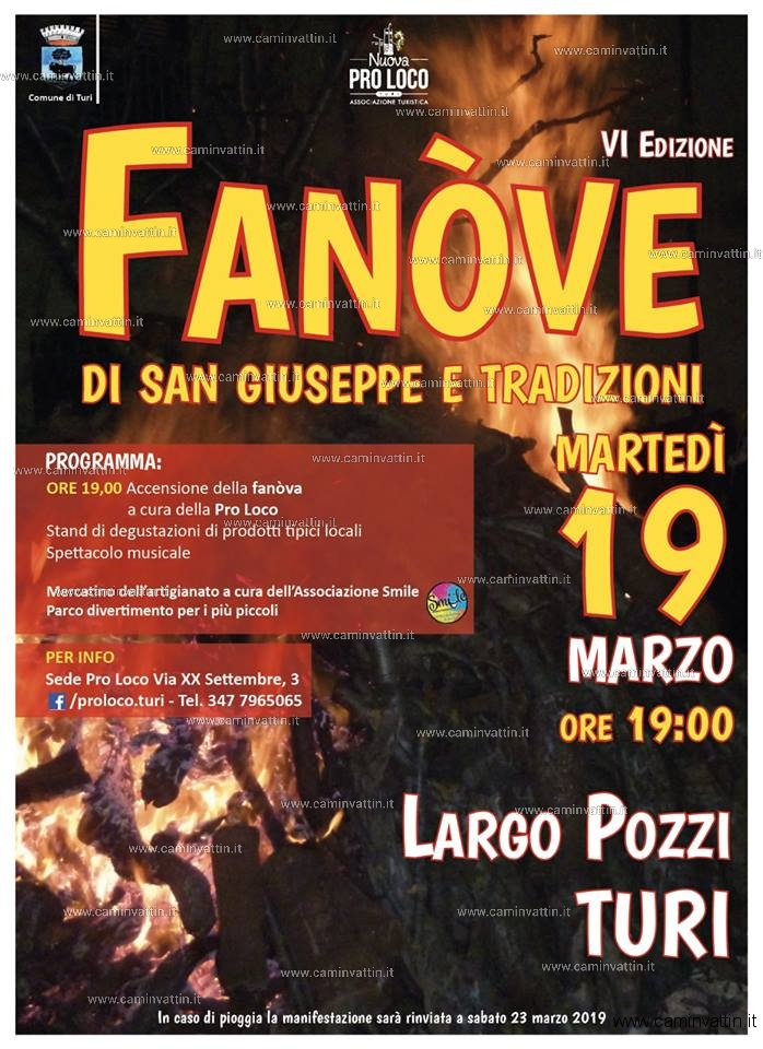 fanove di san giuseppe turi 2019