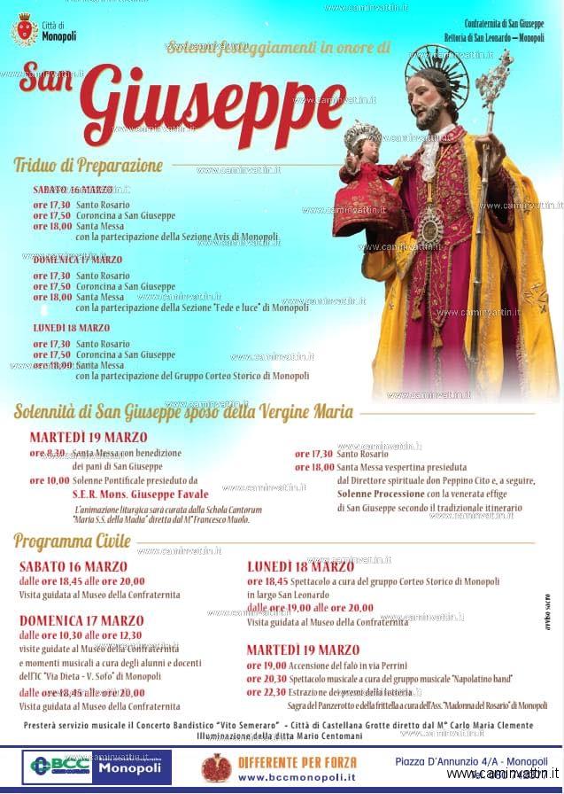 festa in onore di San Giuseppe a Monopoli