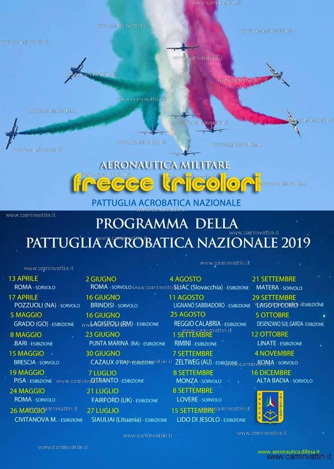 frecce tricolori programma 2019