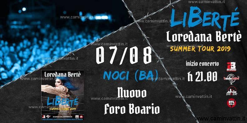 loredana berte liberte summer tour 2019