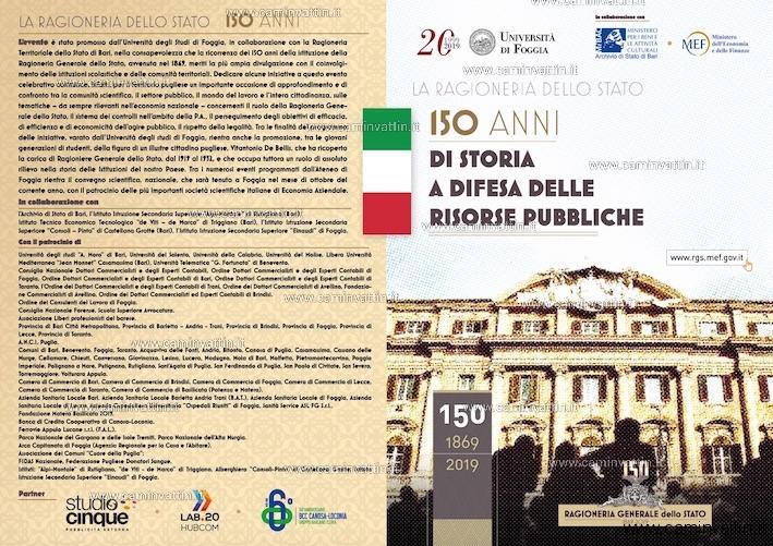 Archivio di Stato di Bari I 150 anni della Ragioneria dello Stato