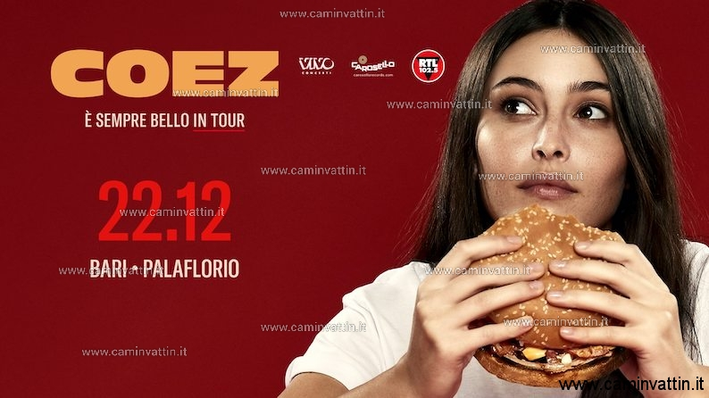 COEZ in Concerto al PalaFlorio di Bari E sempre bello tour