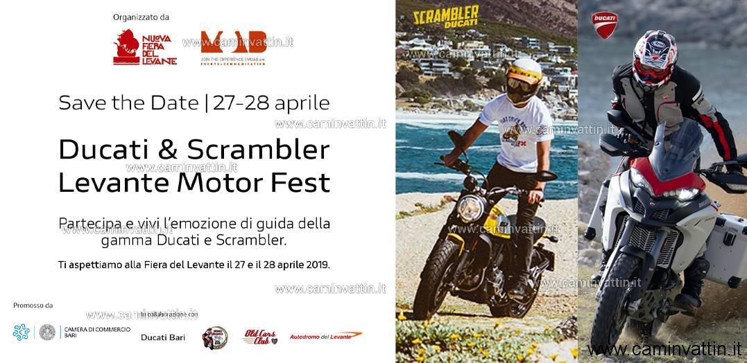 DUCATI E SCRAMBLER LEVANTE MOTOR FEST