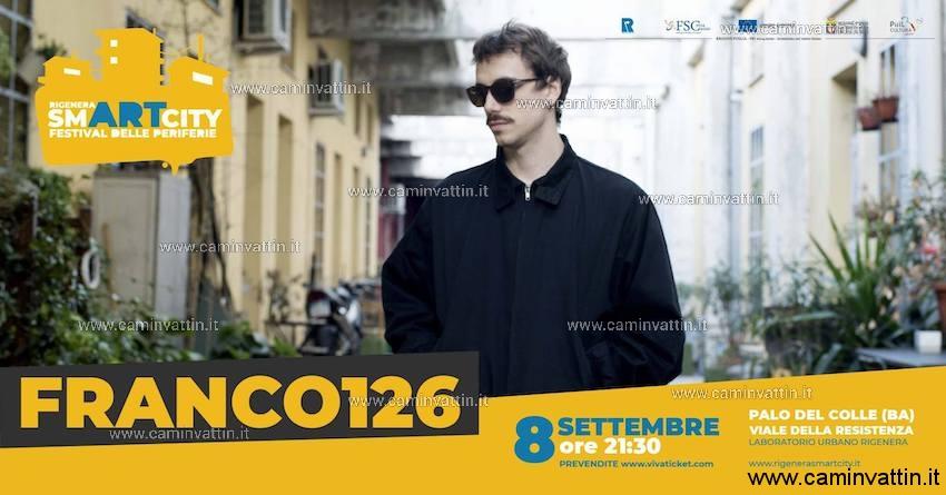 FRANCO126 concerto Palo del Colle Rigenera Smartcity