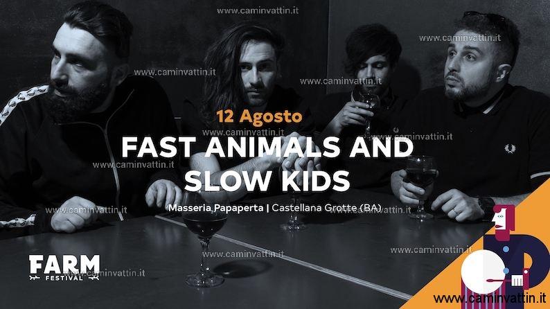 Fast Animals and Slow Kids a Castellana Grotte FARM Festival 2019