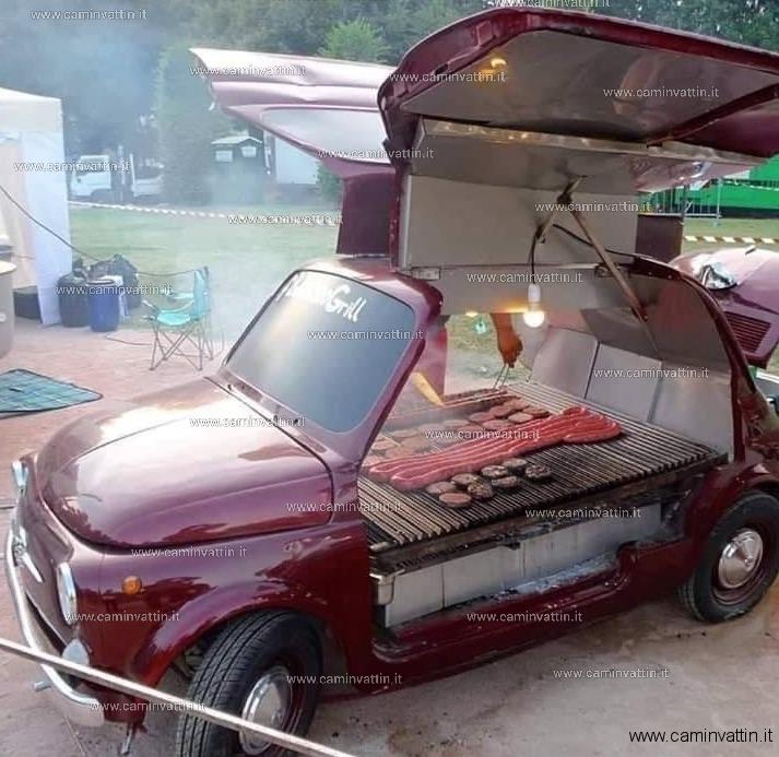 barbecue fiat 500 bbq