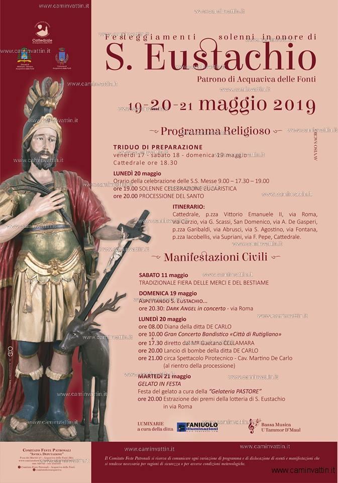 festa patronale acquaviva delle fonti san eustachio
