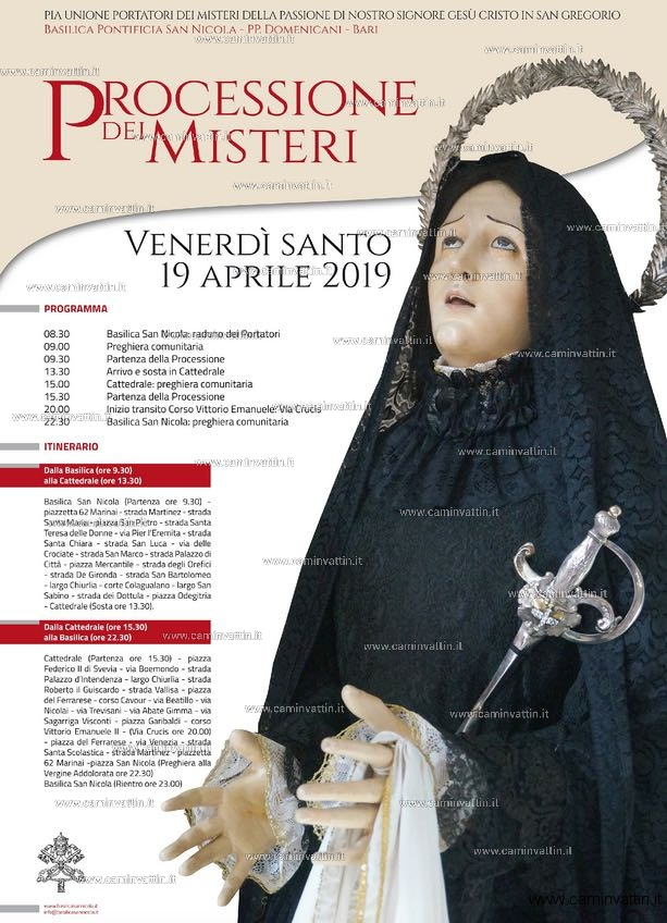 processione dei misteri via crucis basilica san nicola