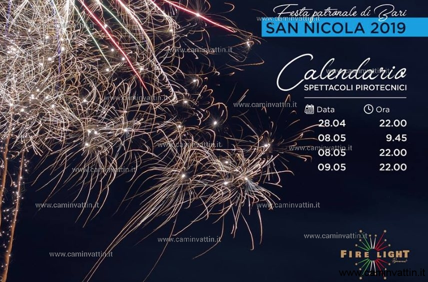 programma spettacoli pirotecnici festa di san nicola 2019