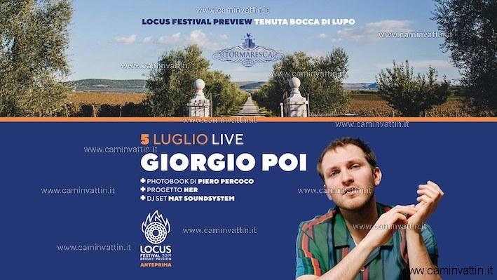 GIORGIO POI in concerto Minervino Murge Locus Festival