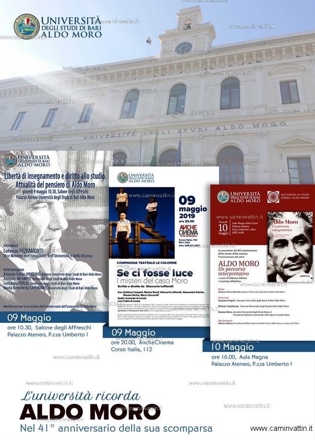 Luniversita ricorda Aldo Moro nel 41 anniversario della sua scomparsa