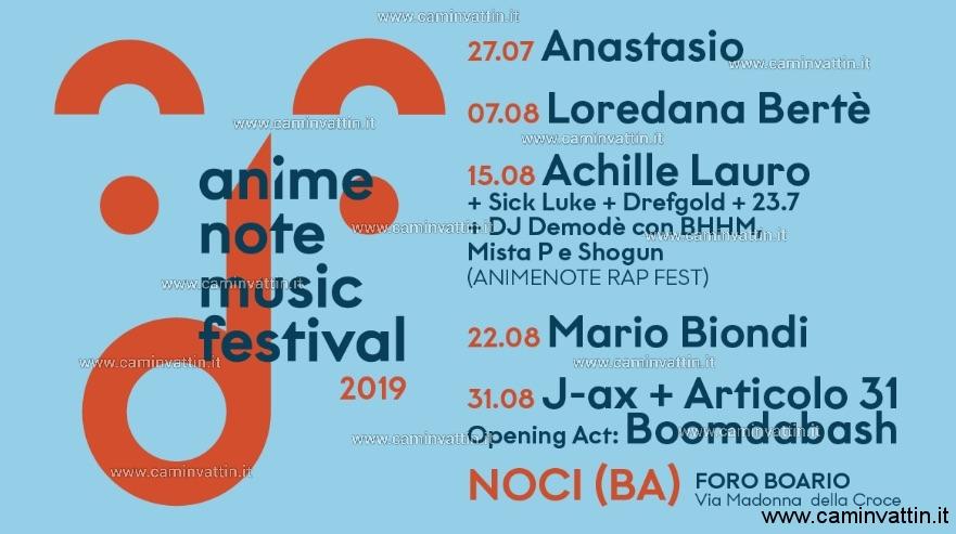 animenote music festival foro boario noci