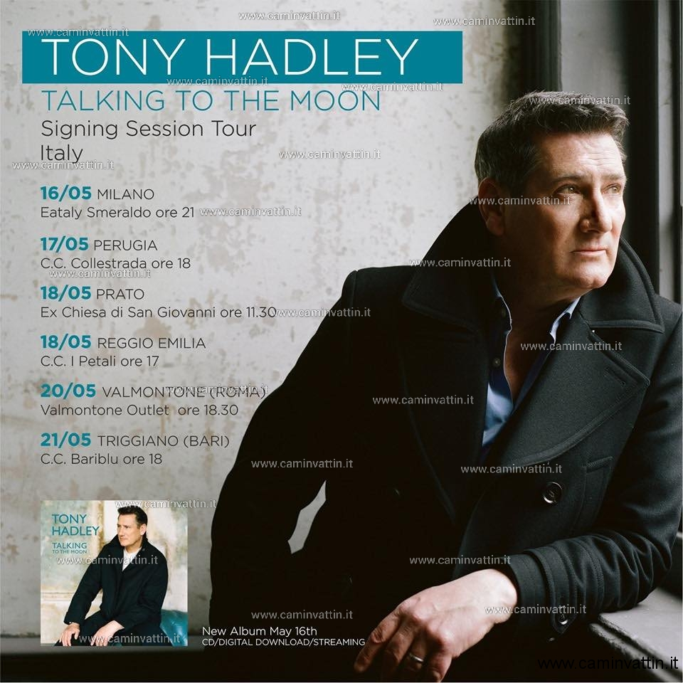 tony hadley talking to the moon signing session tour italy