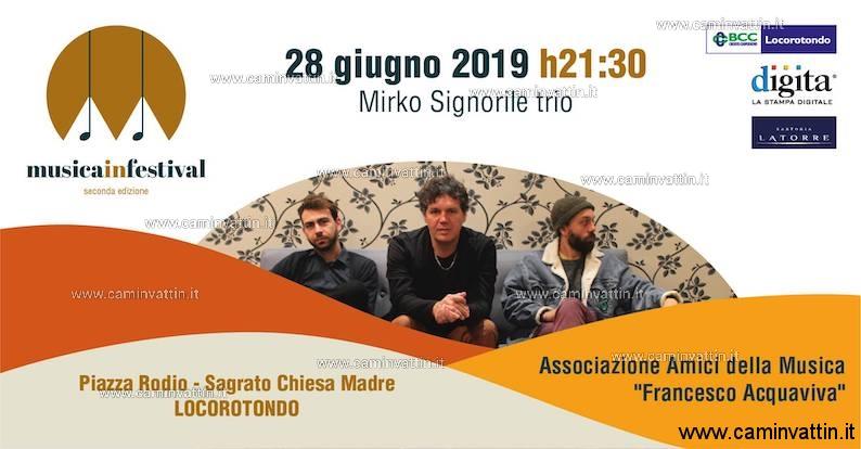 Mirko Signorile Trio Trip al Musica in Festival