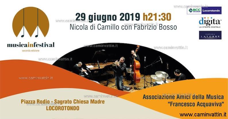 Nicola di Camillo Trio e Fabrizio Bosso al Musica in Festival