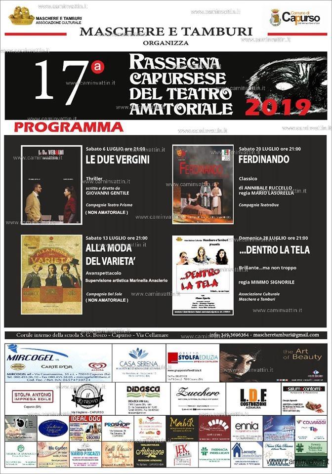 Rassegna Capursese del Teatro Amatoriale 2019