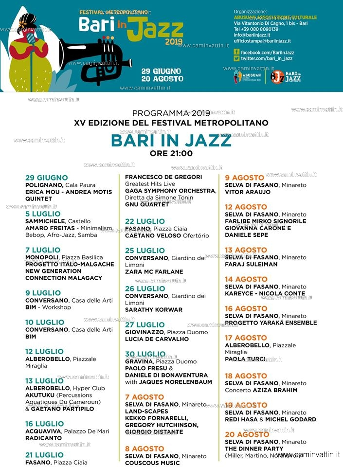 bari in jazz 2019 programma