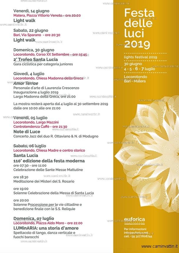 festa delle luci 2019 bari matera locorotondo