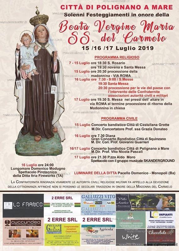 Festa Beata Vergine Maria SS del Carmelo Polignano