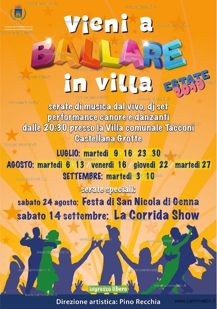 Vieni a Ballare in Villa Estate 2019 castellana grotte