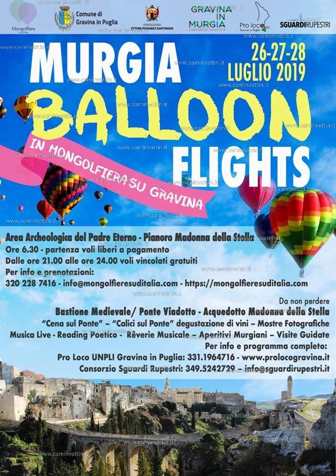 murgia baloon flights 2019 gravina in puglia