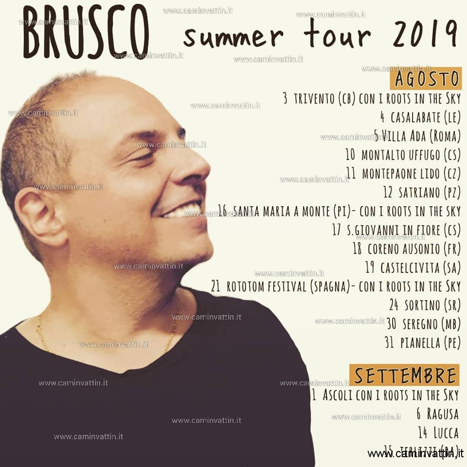 brusco summer tour 2019