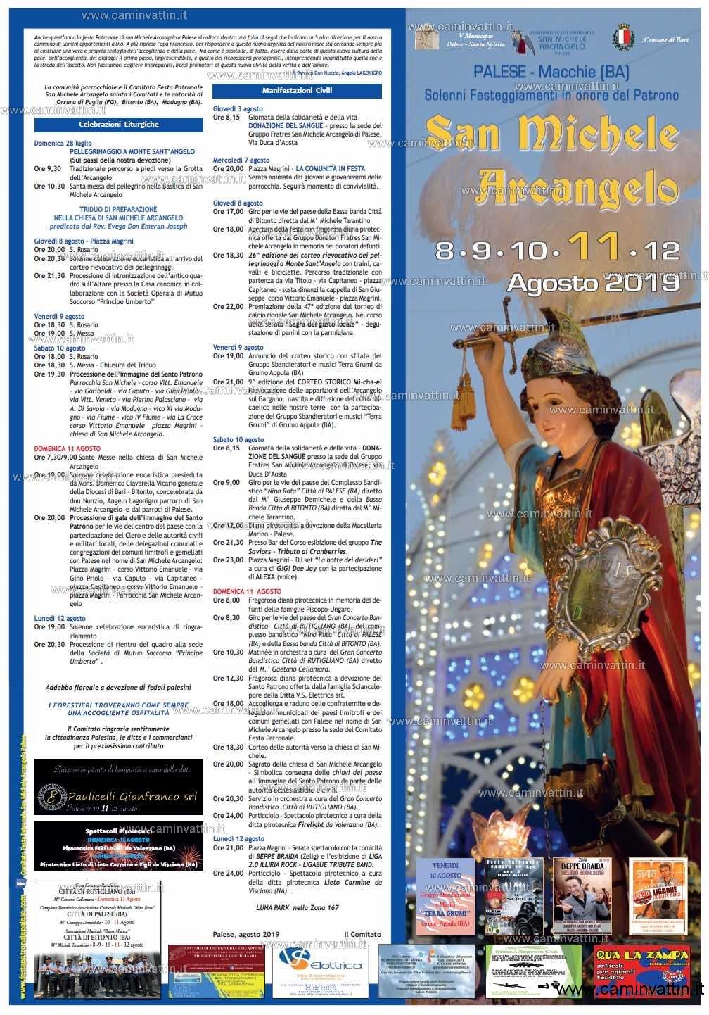 San Michele Data Calendario.Festa Patronale Di San Michele Arcangelo A Palese Il