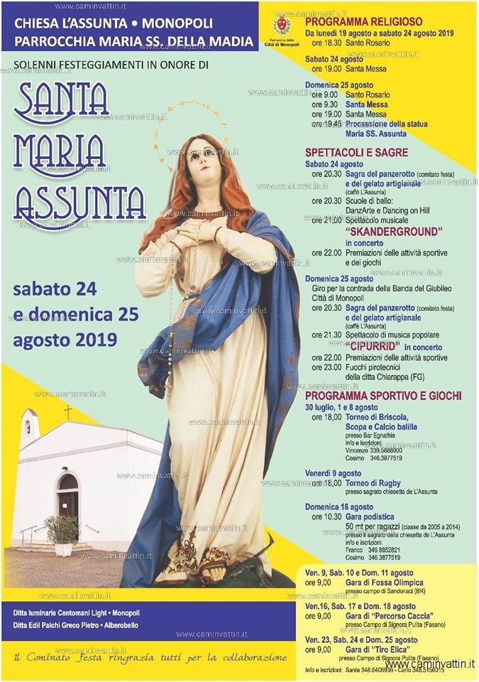 festa santa maria assunta 2019 monopoli