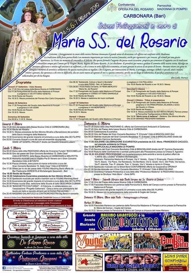 festa maria ss del rosario 2019 carbonara di bari