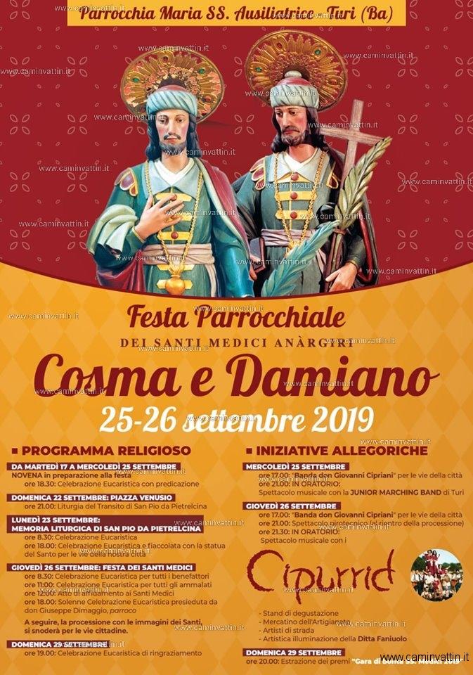 festa santi medici cosma damiano turi 2019