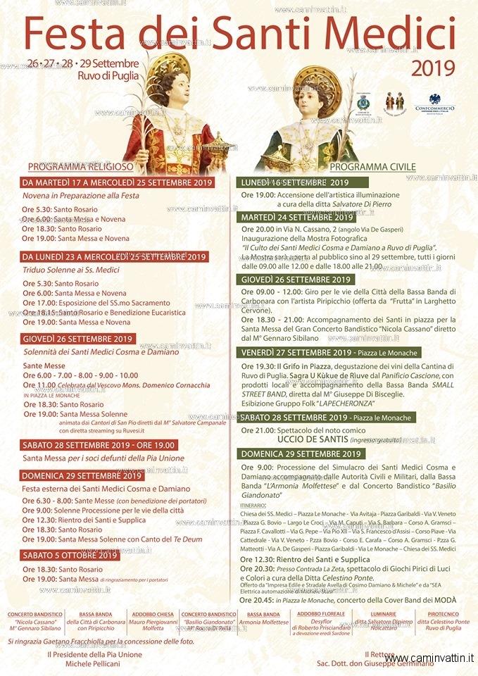 festa santi medici ruvo di puglia 2019