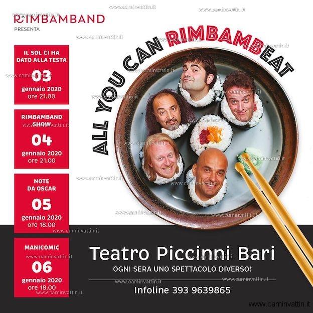 All you can RimbambEAT Rimbamband teatro Piccinni