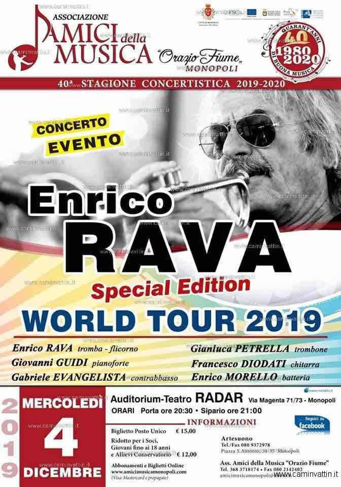 ENRICO RAVA World Tour 2019