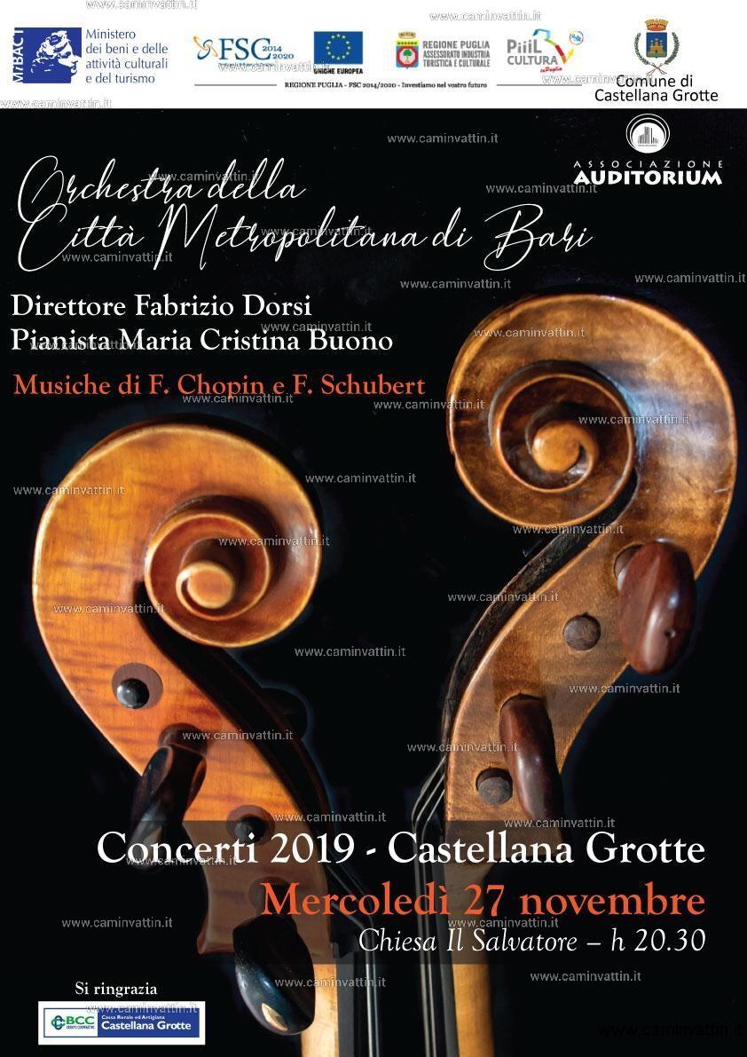 Orchestra citta metropolitana di Bari a Castellana Grotte