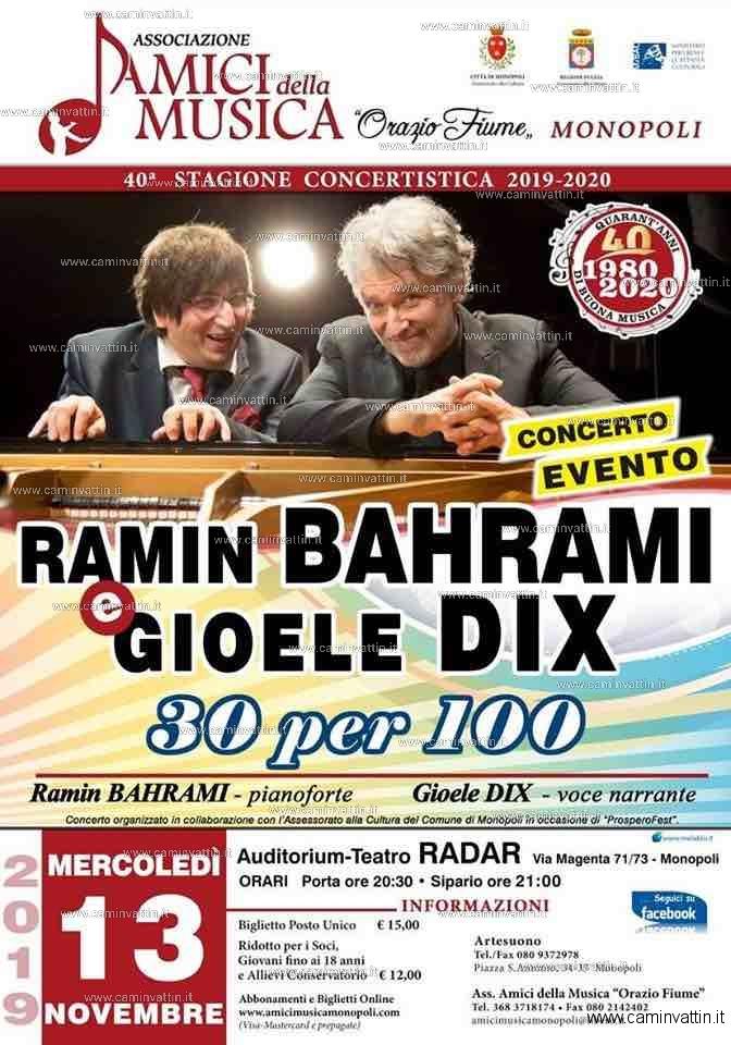 Ramin Bahrami Gioele Dix 30 per 100