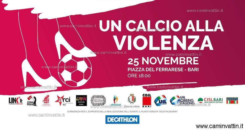 Un calcio alla Violenza in piazza del Ferrarese