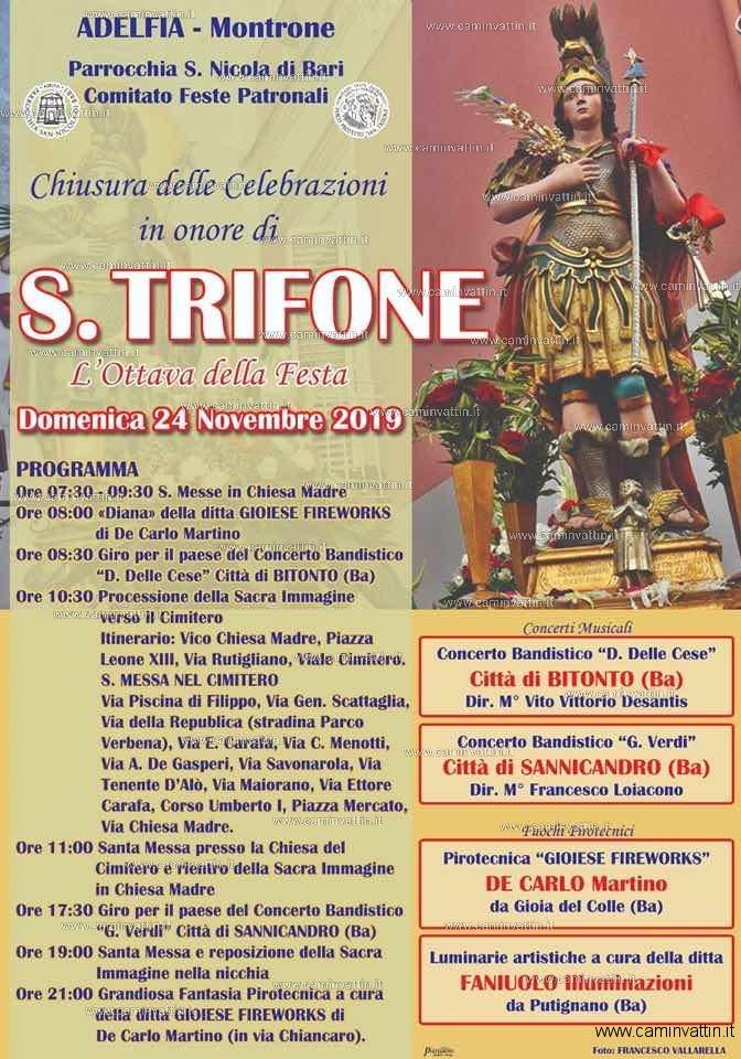 chiusura delle celebrazioni in onore di san trifone