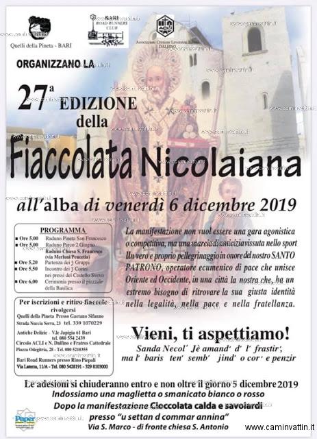 fiaccolata nicolaiana 2019 bari