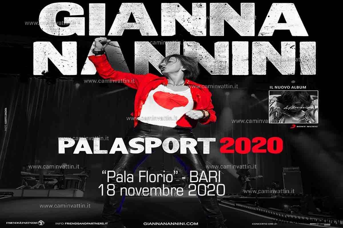 gianna nannini tour 2020 bari palaflorio