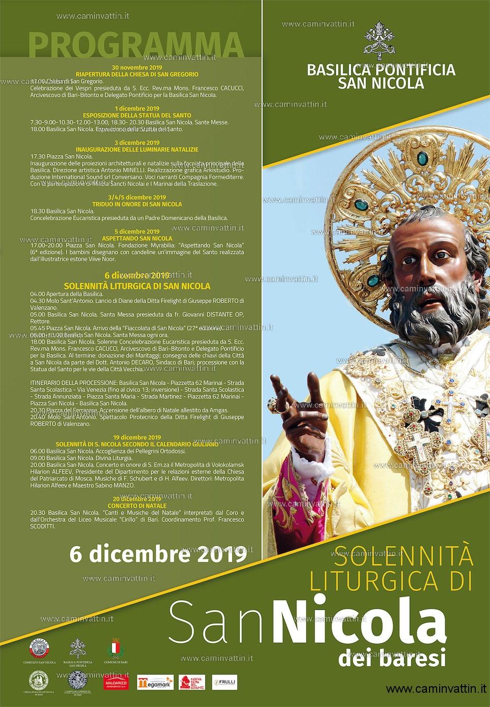 solennita liturgica san nicola 2019