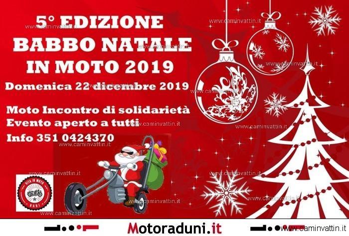 babbo natale in moto bari 2019