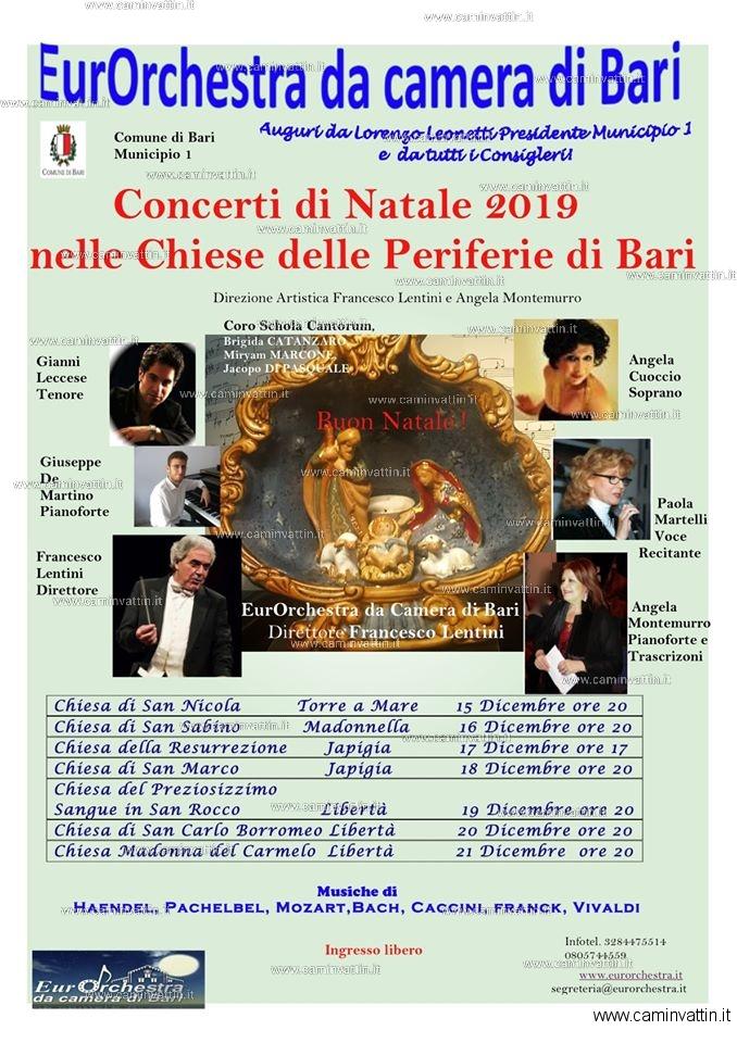 Concerti Natalizi ad ingresso gratuito nelle Chiese delle Periferie di Bari