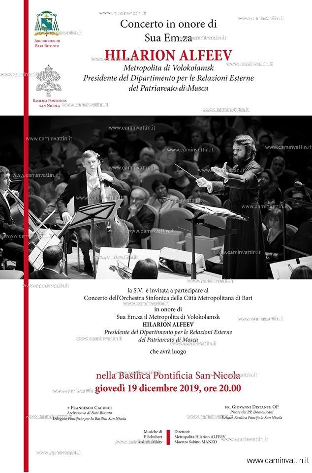 Nella Basilica di San Nicola Concerto dell'Orchestra Sinfonica della Citta Metropolitana di Bari