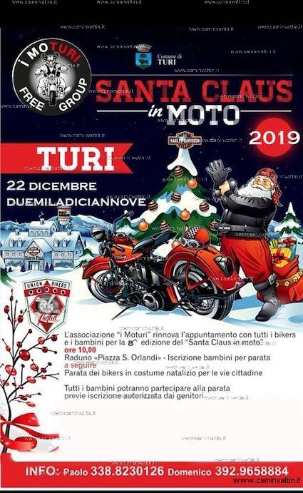 santa claus in moto 2019 turi