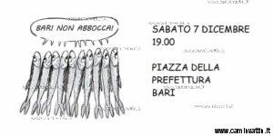sardine in piazza a bari