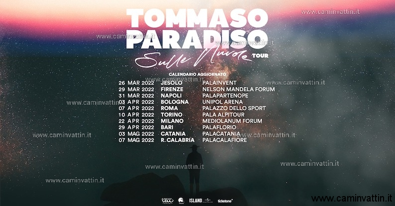 tommaso paradiso 2022 sulle nuvole tour