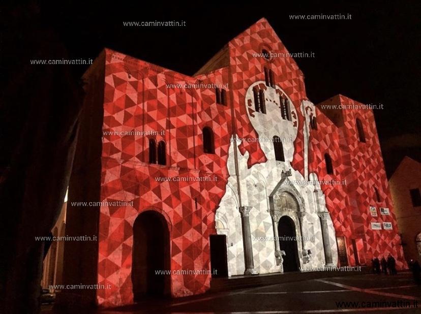video mapping 3D basilica san nicola