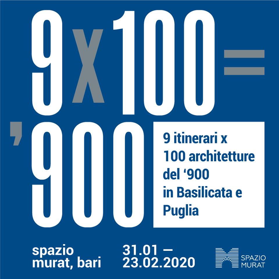 9 itinerari x 100 = architetture del 900