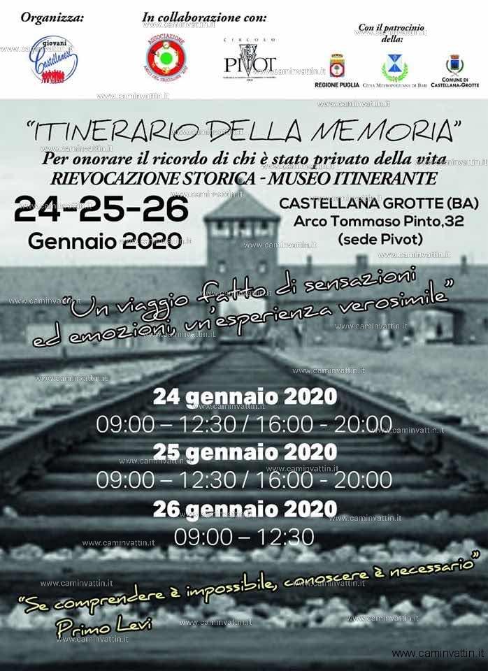 itinerario della memoria